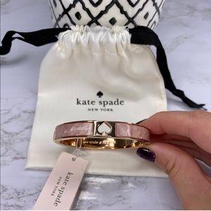 Kate Spade Gold/Pink Marble Bracelet